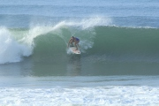 Amira, from Panama, represents Central America with the wave of the day.