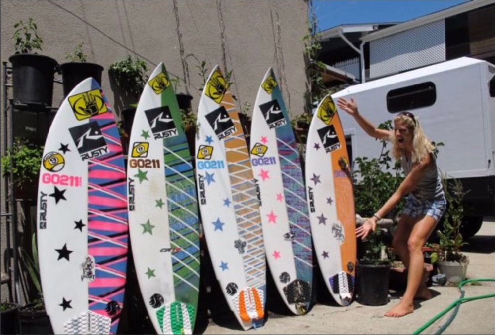 Holly Beck, surfboards, learn about surfboards, online coaching, surf coach