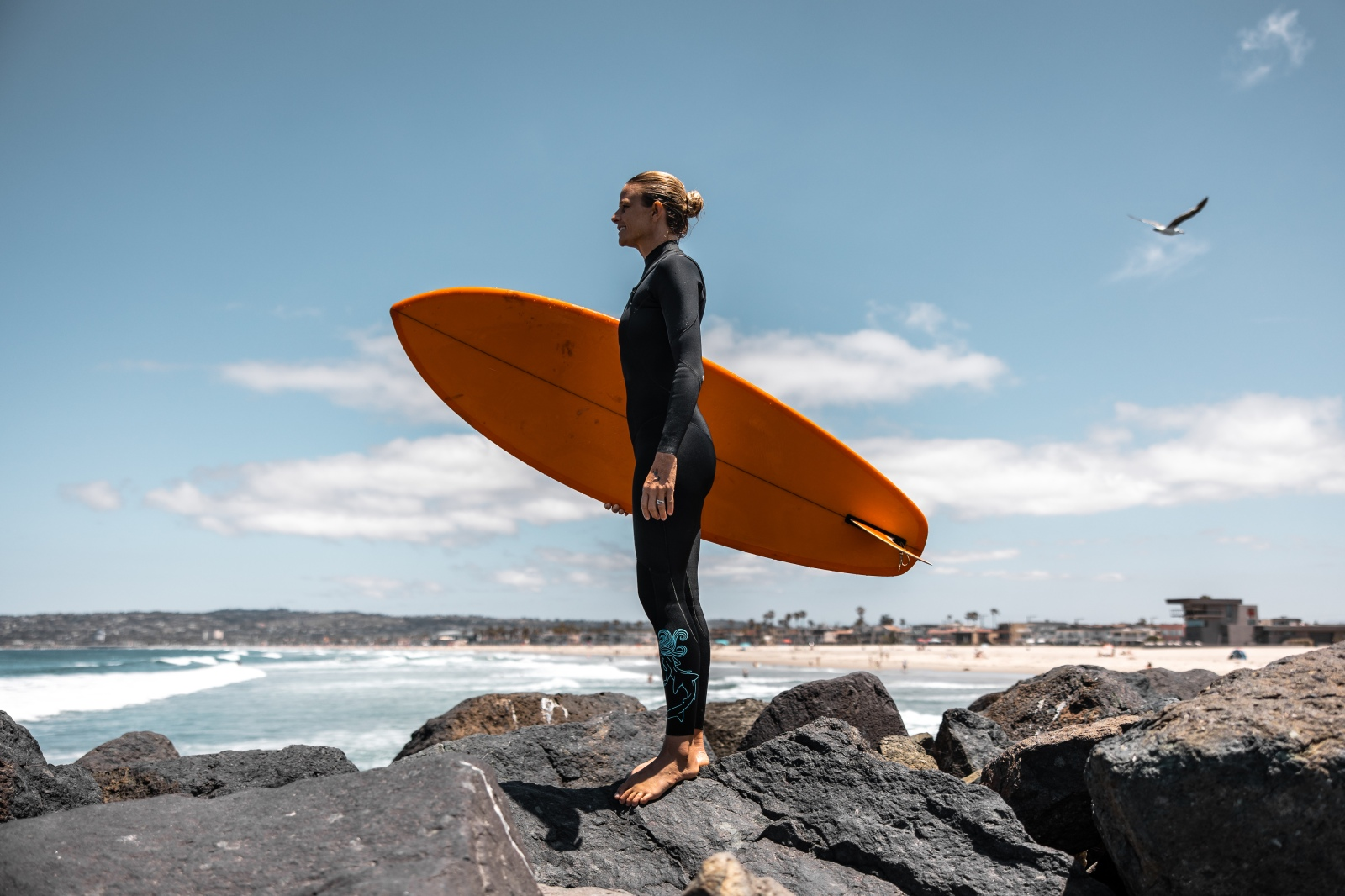 holly beck, surf therapy, Mamala wetsuits